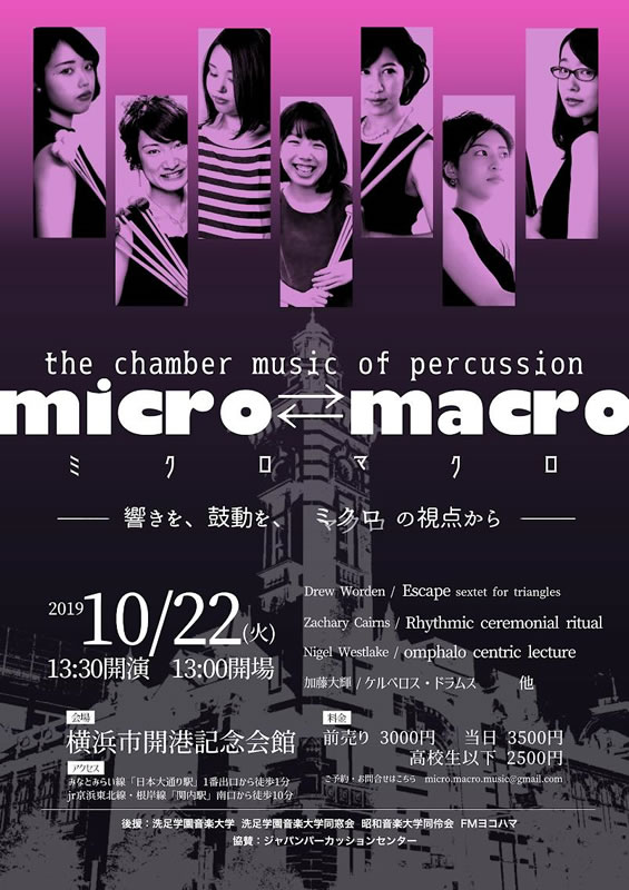 the chamber music of percussion micro⇄macro